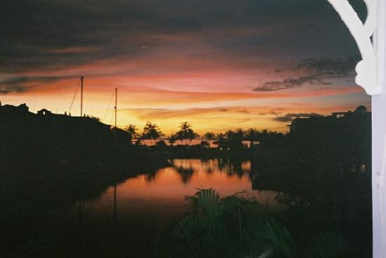 Port St. Charles: sunset from the apartment