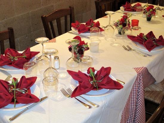 Antica Cantina di Sica : Mise en place