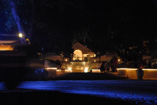 Sandy Lane Hotel: The eerie blue lights at Sandy Lane