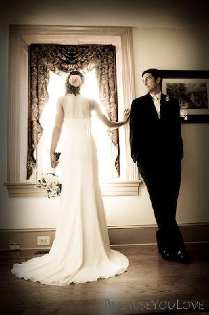Joseph Ambler Inn: Bride and Groom Inside