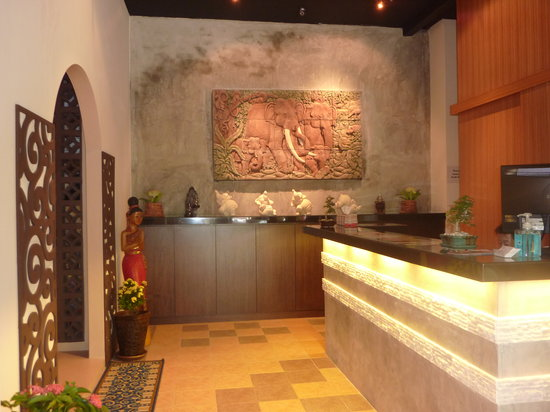 Batu Ferringhi, Malasia: Zen's reception area