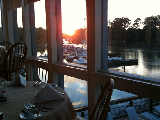 Marina View from table @ Sunset Grille