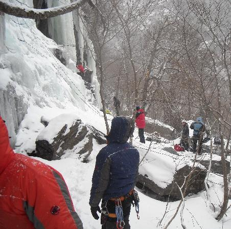 Jeffersonville, VT: Ice climbing
