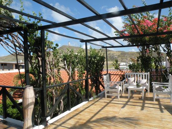 Posada Acuarela: La terraza