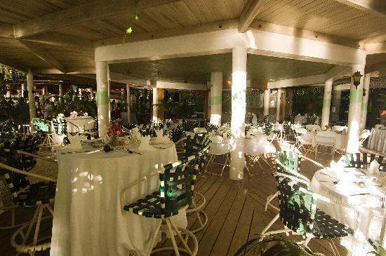 Myett's Garden Inn: tables set up for the party