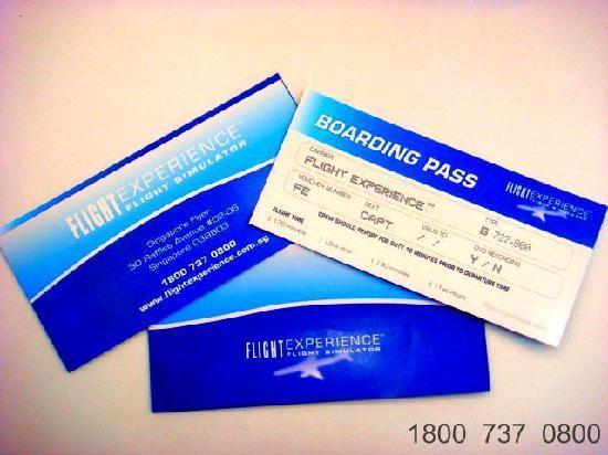Flight Experience Flight Simulator: Boarding Pass