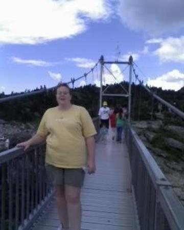 Linville, Βόρεια Καρολίνα: Suspension Bridge @ Grandfather Mountain. This was 6-27-6-29-08, Lopez family visit-all 3 of my