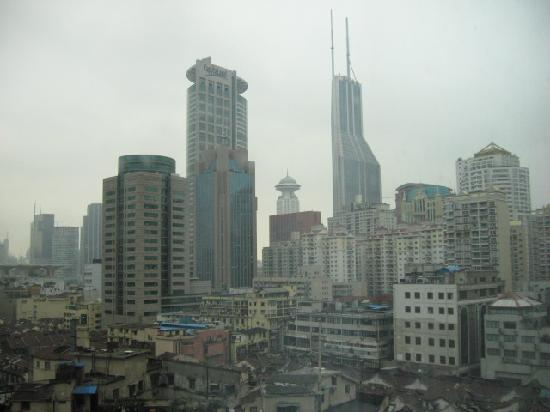 The Bund Hotel: View of business area from window