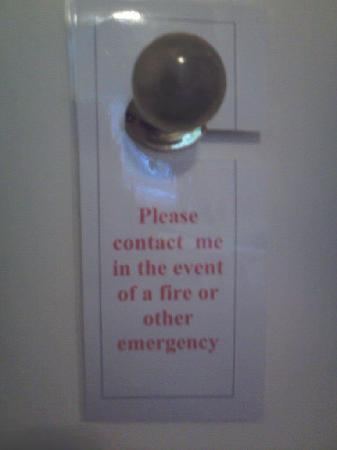 The Edgar Townhouse : One of the funniest signs ever seen in a hotel