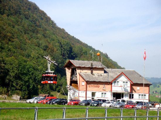 Hotel Adler: Ebenalp Cable Car Station @ Wasserauen