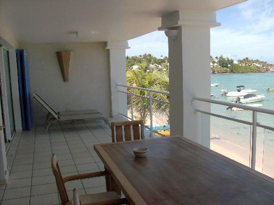Grand Cul-de-Sac, Saint-Barthélemy: Terrasse et chaises longues