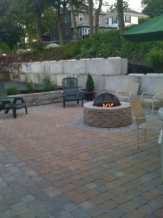 Hull, MA: new outdoor patio area