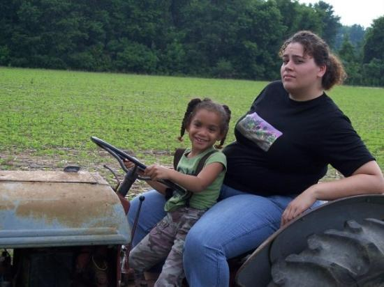 Hustle, VA: Start 'em young on the tractor and put 'em in suspenders. The'll be sure to eat their vegetables