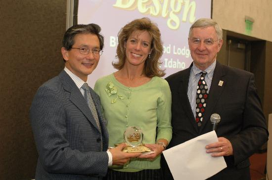 Best Western Plus Kentwood Lodge Receiving Of The Award For Design By