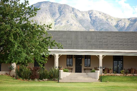 Swartberg Private Game Lodge: THe Lodge, nestled at the foot of the Swartberg