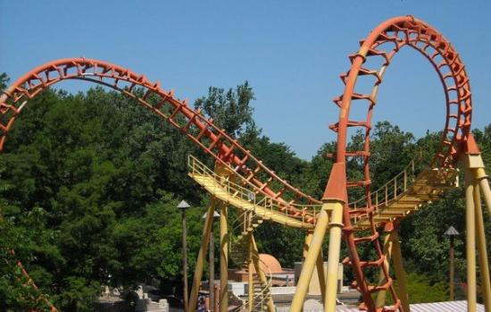 Worlds Of Fun Oceans of Fun: Another shot of the boomerang