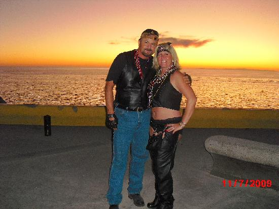 "Sonoran Sea Resort : Sunset in Rocky Point during ""Bike Week""."