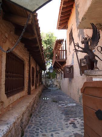 narrow street in Altos de Chavon