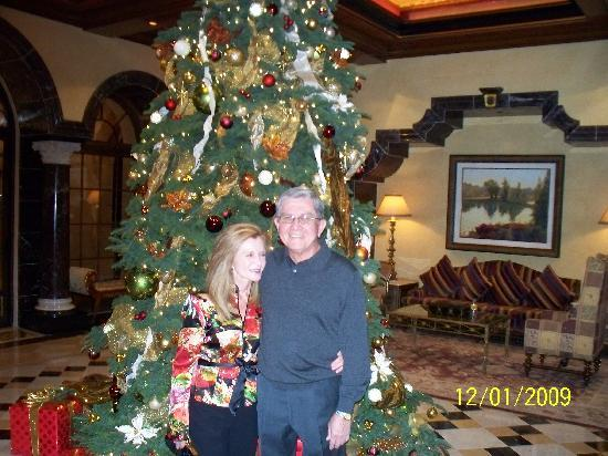 Fairmont Grand Del Mar: Us before dinner:Hotel entry taken by the Concierge