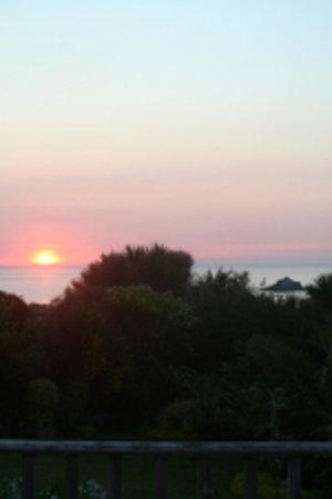 Fairbank Hotel - Decking View of Crantock Sunset June 2009