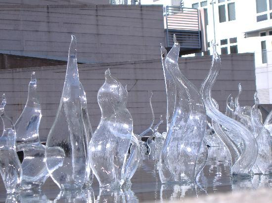 Examples Of Glass Work Are In The Courtyard Picture Of Museum Of