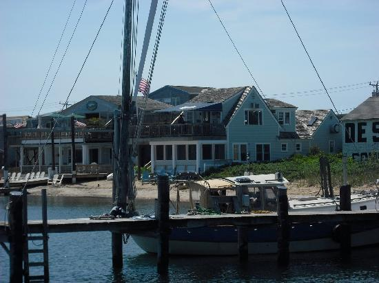 Vineyard Haven, MA: View of Blue Canoe from Black Dog Pier