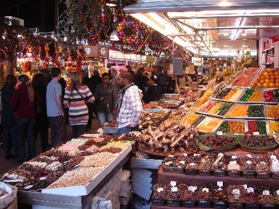 Pullman Barcelona Skipper: A Sweet and Chocolate Stall in the Market on Las Ramblas.