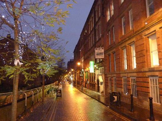 Street in front of Velvet