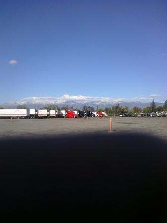 Truck Yard in Fontana, CA.  Snow only 30 minutes away
