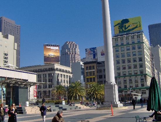union square picture of courtyard san francisco downtown. Black Bedroom Furniture Sets. Home Design Ideas