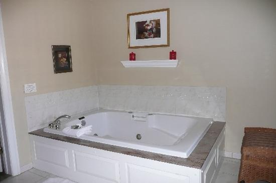 The Lambertville House Hotel : Jacuzzi tub in a large homey room!