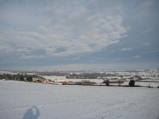 Huntstile Organic Farm: sky over Huntstile
