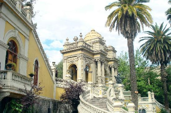 palace downtown Santiago in the Santa Lucia area