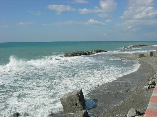 Longobardi, Italy: mar Tirreno, água quentinha