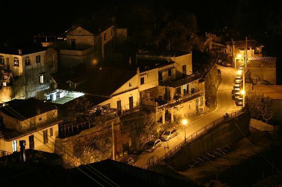 Scala, Italien: vista notturna dal palazzo