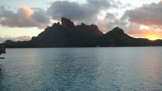 Four Seasons Resort Bora Bora: us on bungalow deck during the day
