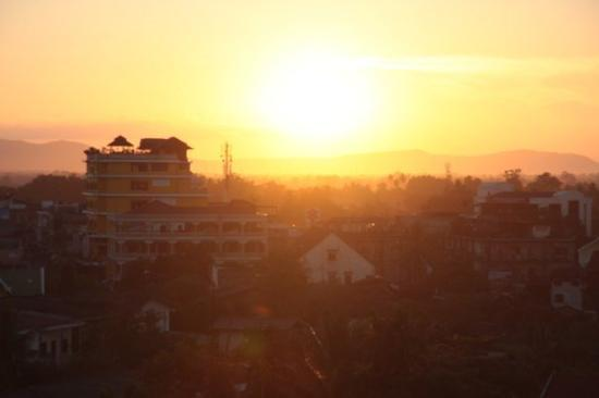 View over Pakse from my hotel room