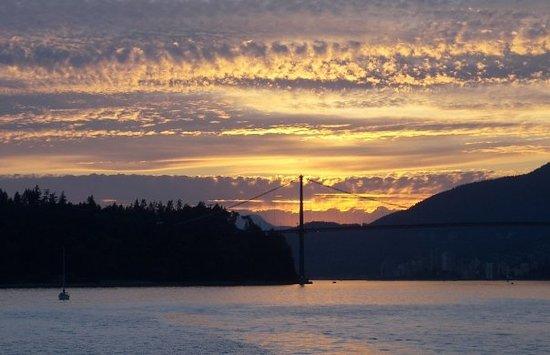 Lions Gate Bridge : Lions Gate Sunset