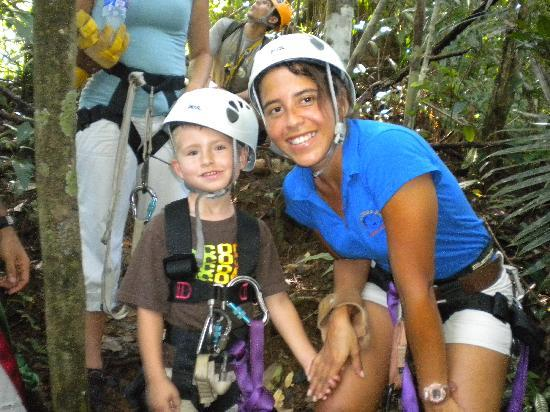 Costa Rica Fishing and Eco Adventure Tours at Crocodile Bay Resort: Zip Line Ready!!