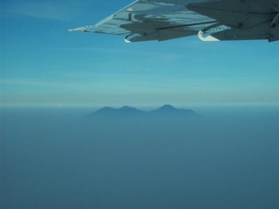 Gunung Gede-Pangrango. view from Cessna Caravan (Pangandaran-Halim)