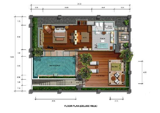 Deluxe Villa Floor Plan Picture Of The Royal Santrian