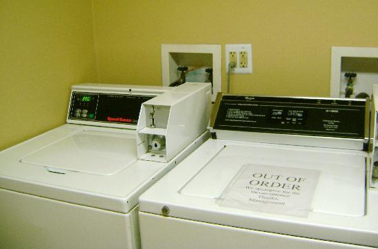 Extended Stay America - St. Louis - St. Peters: Notice same washer is still out of order.   Yet they charge more to do laundry.