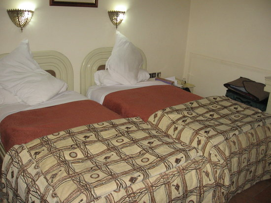 Bab Mansour: Plain, small, twin room - the views was poor