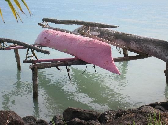 Samoa: traditional outrigger