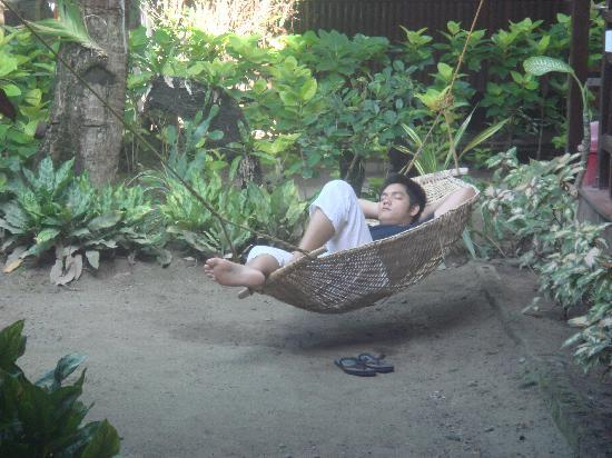 Orchids Resort: my boyfriend relaxing