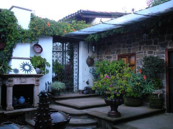Hotel Casa de la Real Aduana: The path to the dining room