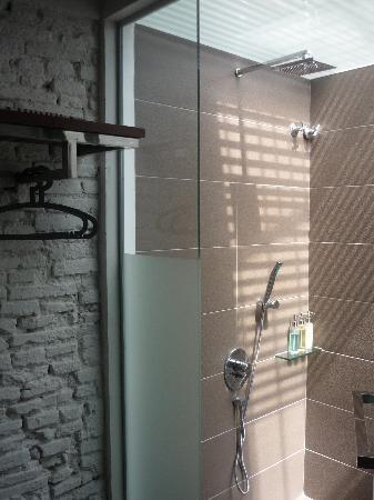 Courtyard @ Heeren Boutique Hotel: Rainfall shower & handheld shower