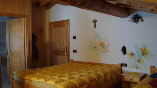 Baita de Nasegn: l'interno della stanza