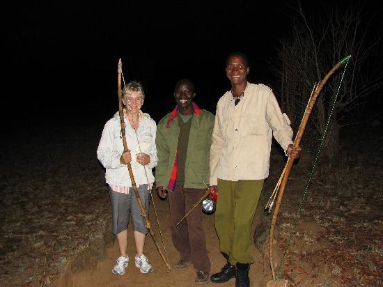 Kikoti Safari Camp: Our nightly escorts