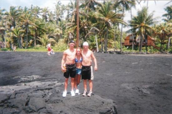 Kailua Kona Hi Black Sand Beach Island Hawaii